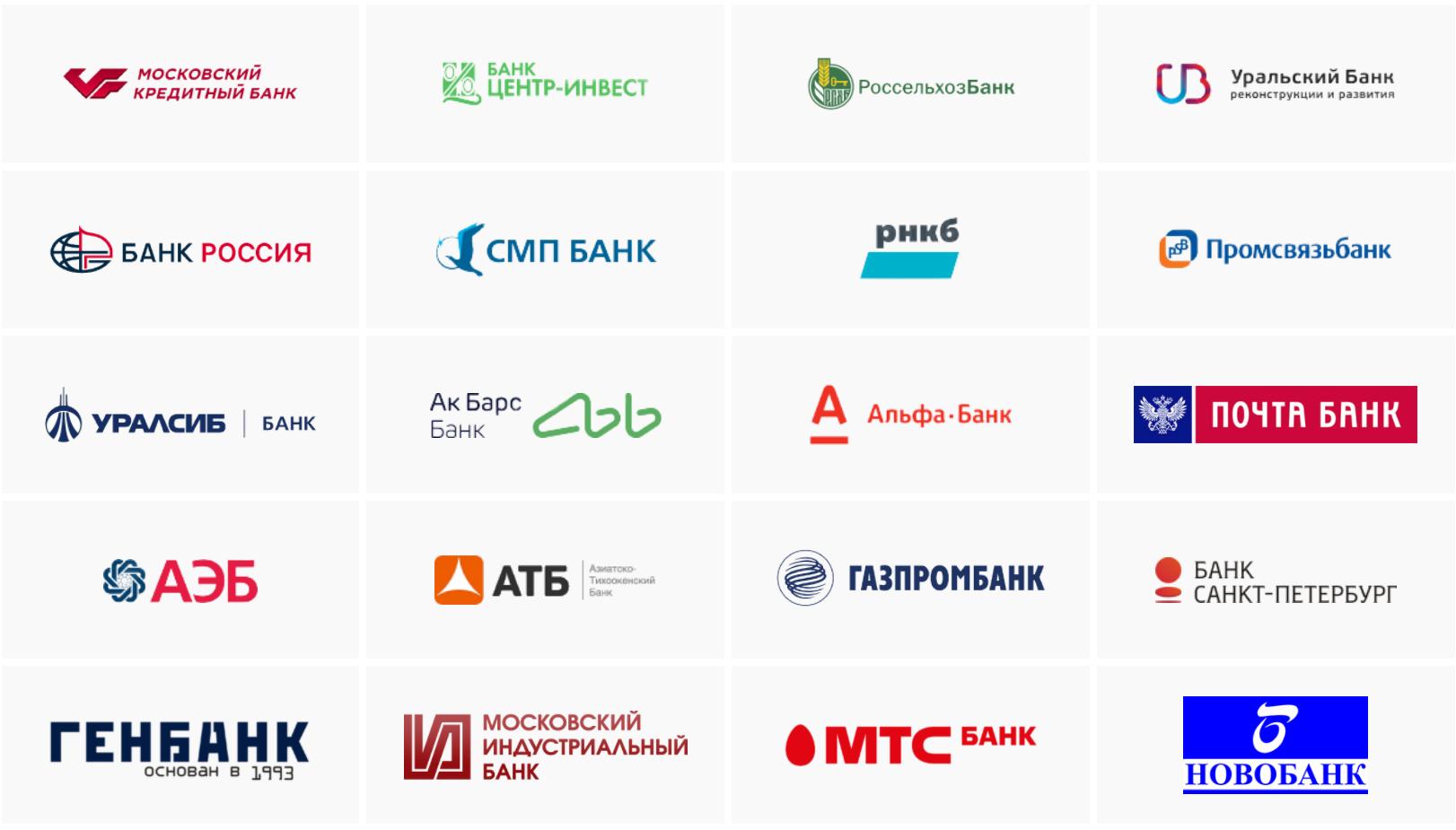 Банки участники мир пэй 1